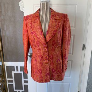 Vintage ESCADA Patterned Silk Blazer